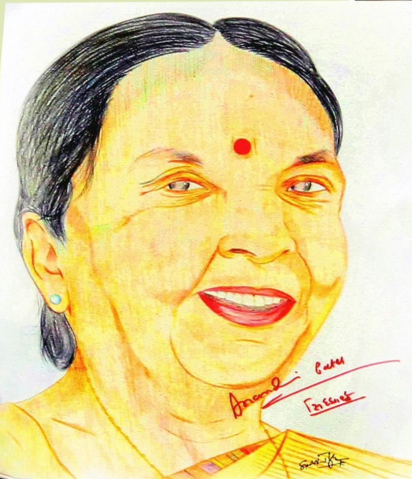 Anandiben Patel by siddharthbiyer